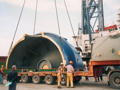 Transportation of Heavy and Over-sized Parts of Turbine and Condenser