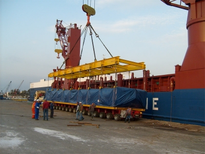 "Unloading of Heavy & Over-sized Modules for the ""Heron"" Power Plant"